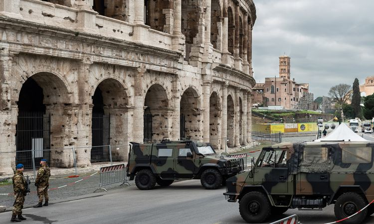 Rome without tourists – an unusual sight.