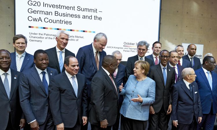 Angela Merkel at the G20 Investment Conference for Africa