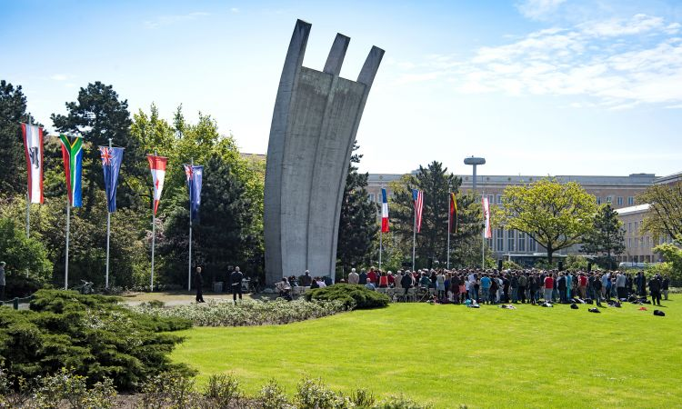 Monument to the airlift at Berlin's Tempelhof Airport. Two similar monuments in Frankfurt und Celle.