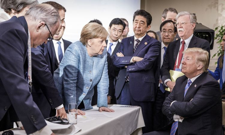 The image from the G7 summit that circled the globe.