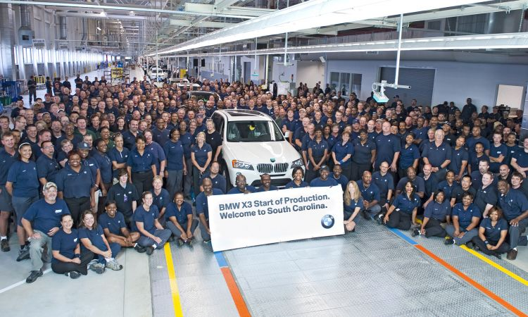 BMW employees in Spartanburg: a long-standing partnership.