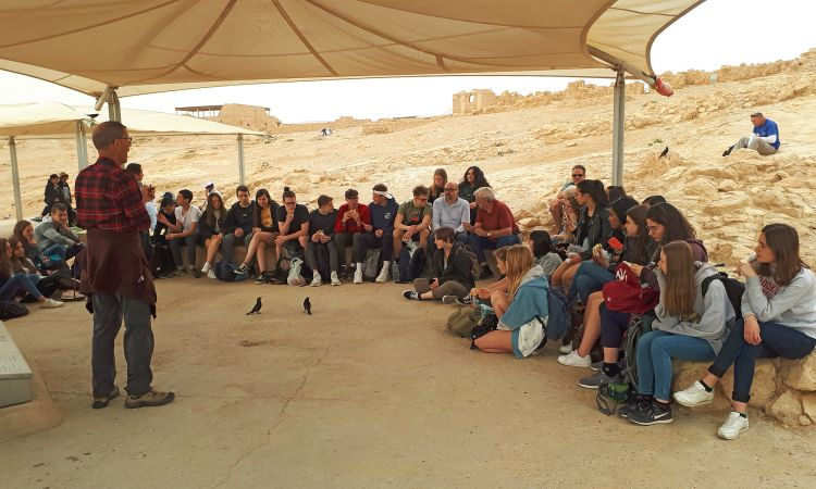 Joint viewing of the Masada archaeological site at the Dead Sea