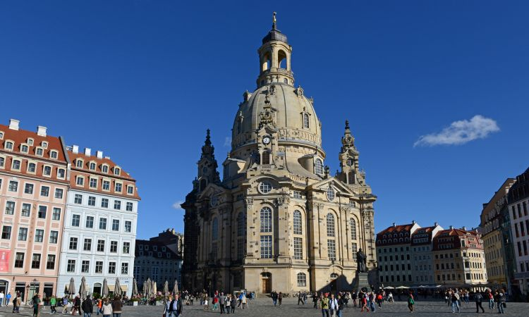 Dresden: the reconstructed Frauenkirche