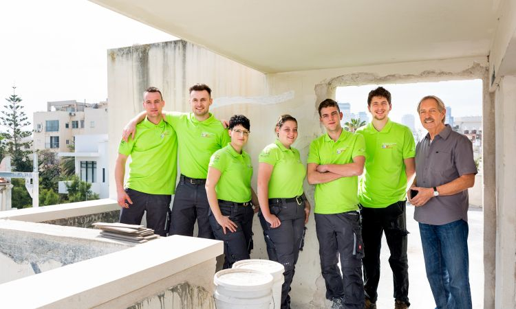 A strong team: Young tradespeople from Germany and Israel