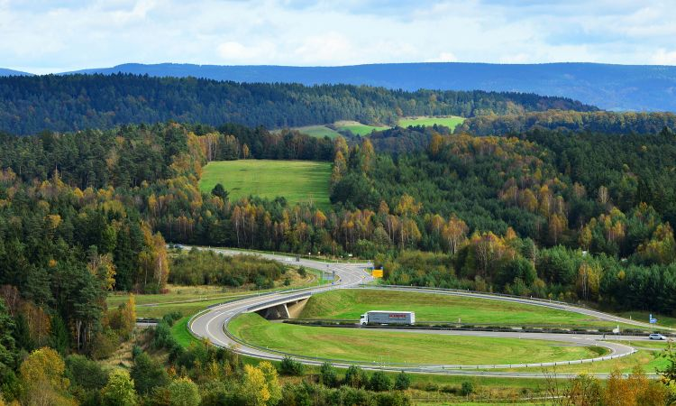 today the slip road to the A73 Autobahn.