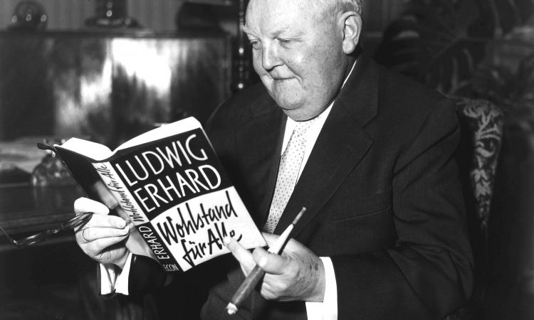 Ludwig Erhard, founder of the social market economy in Germany.