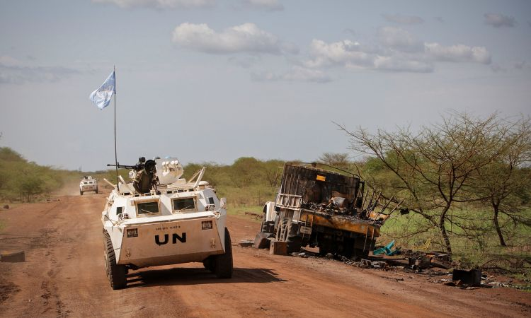 UN soldiers on peace mission in Africa