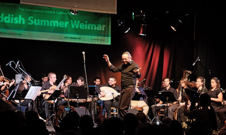 Andreas Schmitges, musician and cultural manager, initiator of the Caravan Orchestra, a Yiddish Summer Weimar project.