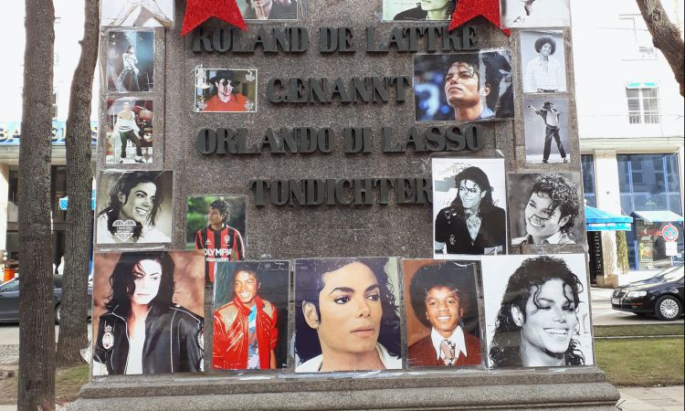 Memorial to Michael Jackson in Munich