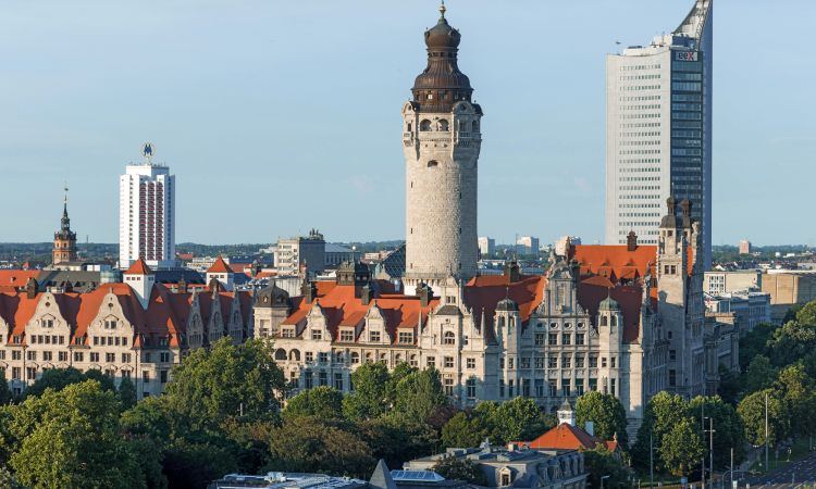 Leipzig: New town hall and city high-rise
