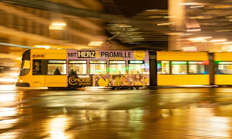 Shining example: Dresden's tram network