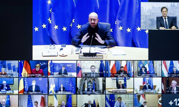 Video conference of EU heads of state on combatting the coronavirus pandemic