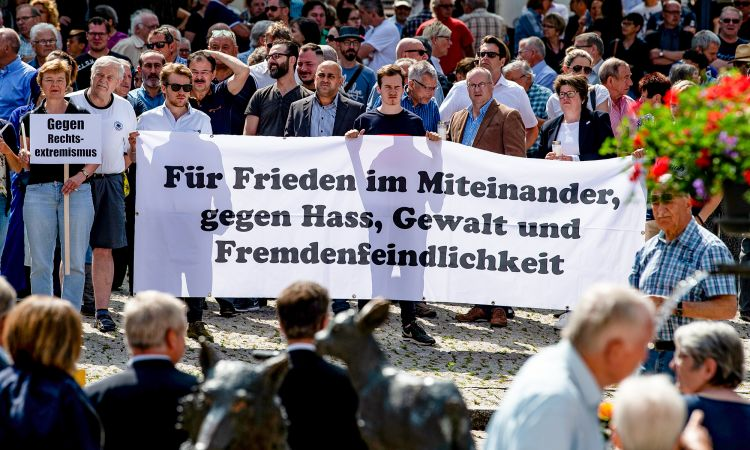 Demonstration against right-wing violence in Kassel