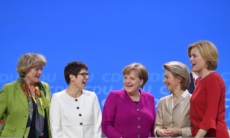 How many women live, work and are in government in Germany?