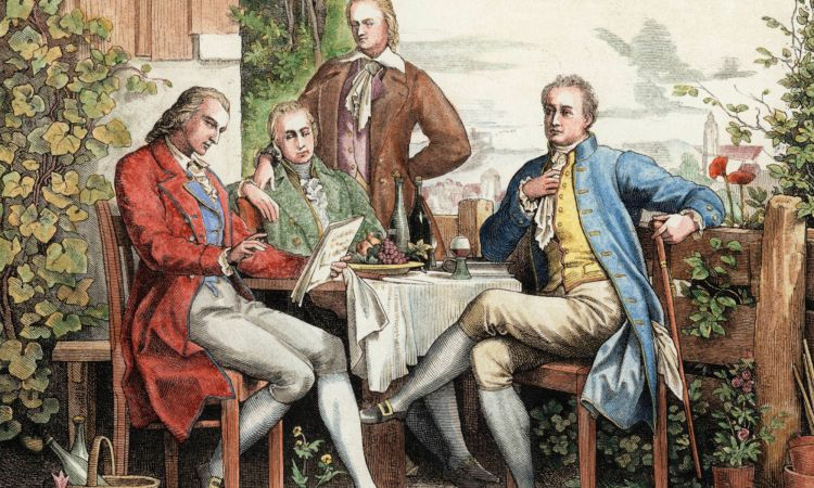 Wilhelm and Alexander von Humboldt with Schiller and Goethe in Jena