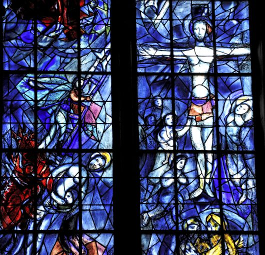 Fenster in Kathedrale Reims